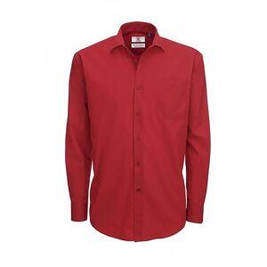 B&C B & C Mens Smart langermet Poplin skjorte / menns skjorter Business Blue XL