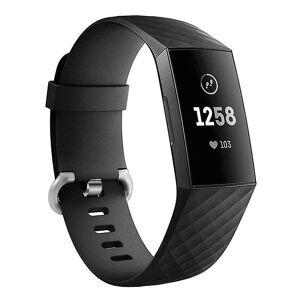 eStore Silikon armbånd kompatibelt med Fitbit charge 3 Svart