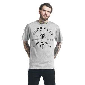Star Wars Unisex Voksen Boba Fett T-skjorte Grå Heather XL