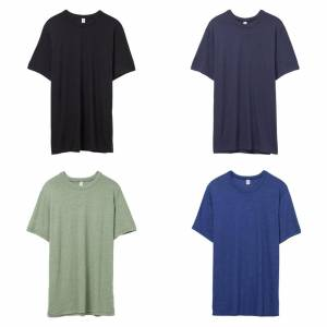 Alternative Apparel Alternative klær Mens Vintage 50/50 t-skjorte Marinen XS