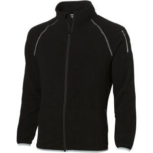 Slazenger Mens slipp skutt Full Zip microfleece-jakke Helsvart L
