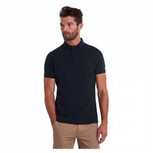 Barbour Barbour Sports Mix Mens Polo Skjorte Dk Seaw Xl