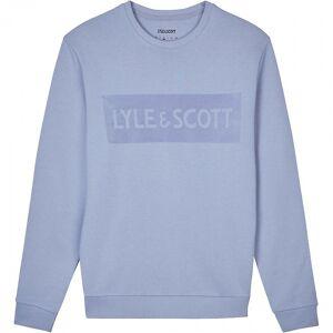 Scott Lyle & Scott Lyle & Scott Flock Logo Mens Sweatshirt Z468 Sky Blue M