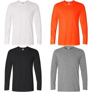 Gildan Mens myke stil langermet t-skjorte Oransje L