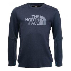 The North Face Nord Face Vista Tek L/S grafisk menns topp Skyggefull blå Heather Xl