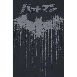 Batman Dame/Damer Japansk Logo T-skjorte Svart XXL