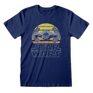 Star Wars Unisex Voksen Slips Fighter T-skjorte Blå L