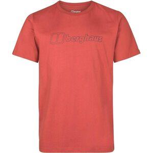 Berghaus stort omriss Logo t-skjorte-Ketchup/karbon Rød L