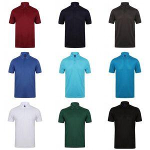 Henbury Mens strekke Microfine Pique Polo skjorte Safir L