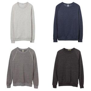 Alternative Apparel Alternative klær Mens Champ Pullover Eco grå S