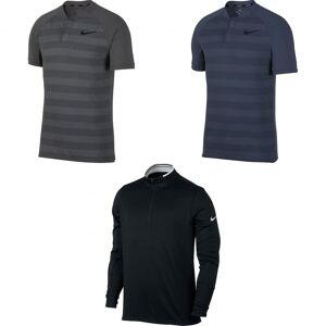 Nike mens Sonebasert kjøling Polo skjorte Mørk grå/svart/svart S