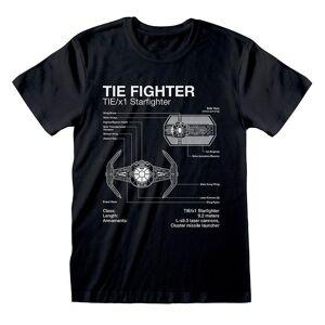 Star Wars Unisex Voksen Slips Fighter T-skjorte Svart S