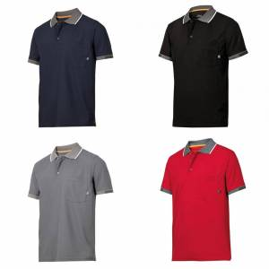 Snickers Mens AllroundWork 37,5 Tech kort ermet Polo skjorte Marinen XL