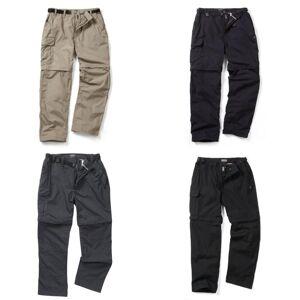 Craghoppers utendørs klassiske Mens Kiwi konvertible bukser Svart Pepper 36R