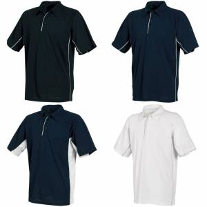 Tombo Teamsport Mens Pique sport Polo skjorte Hvit/hvit/reflekterende Piping S