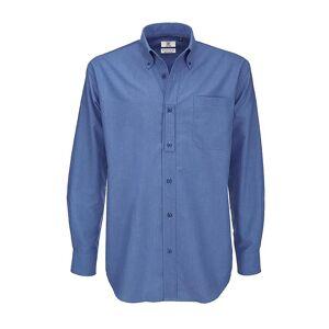 B&C B & C menns Oxford langermet skjorte / menns skjorter Svart XL