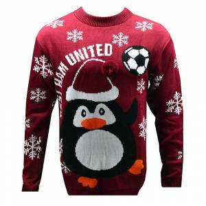 United West Ham United FC nyhet Christmas genser Burgund S