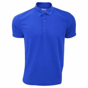 Gildan Mens ytelse Sport dobbel Pique Polo skjorte Royal M