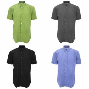 Kustom Kit Kustom orientert Kit Mens arbeidsstyrke kort ermet skjorte / Mens Workwear skjorte Svart S