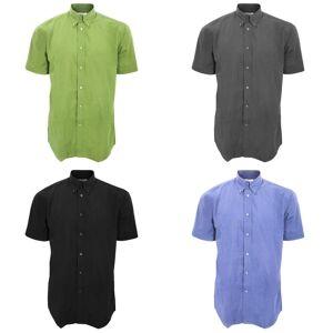 Kustom Kit Kustom orientert Kit Mens arbeidsstyrke kort ermet skjorte / Mens Workwear skjorte Svart M