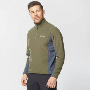 Berghaus New Berghaus Men's Hartstop Half-Zip Micro Fleece Khaki L