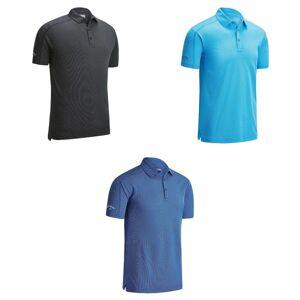 Callaway denim jacquard Polo T-skjorte Kaviar L