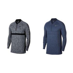 Nike Mens sømløs strikk langermet Cover glidelås Wolf grå/svart XL