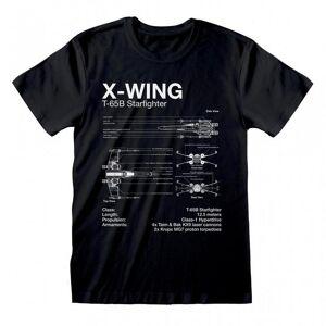 Star Wars Unisex Voksen X-Wing T-skjorte Svart L