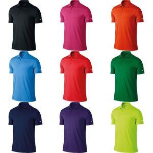 Nike Mens seier kort erme Solid Polo skjorte Universitetet blå S