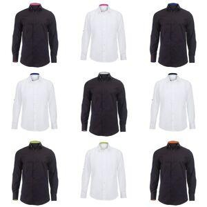 Alexandra Mens Roll ermet gjestfrihet arbeid skjorte Hvit / rosa XL