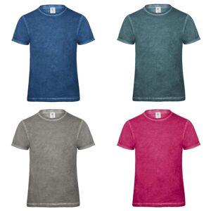 B&C B & C Denim Mens koble kort erme t-skjorte Grå sammenstøt XL