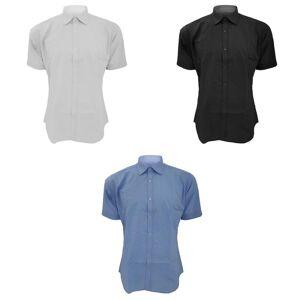 Kustom Kit Kustom orientert Kit Mens Slim Fit Business / arbeid skjorte Lys blå 16.5