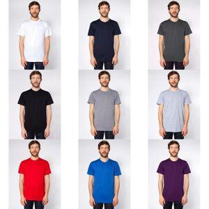 American Apparel voksne unisex vanlig kort ermet bomull T-skjorte Skifer M