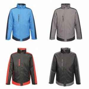Regatta Mens kontrast isolert jakke Svart/segl grå 3XL