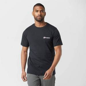 Berghaus New Berghaus Men's Logo Crew Neckline Short Sleeve T-Shirt Black XL