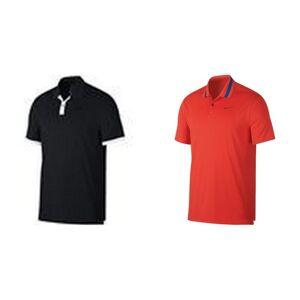 Nike Mens tørr damp farge blokker Polo Habanero rød/blå Void S