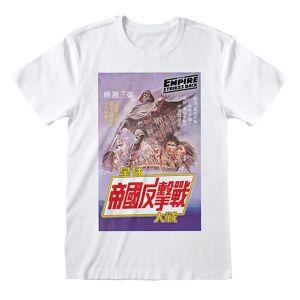 Star Wars Unisex Voksen Japansk Plakat T-skjorte Hvit XL
