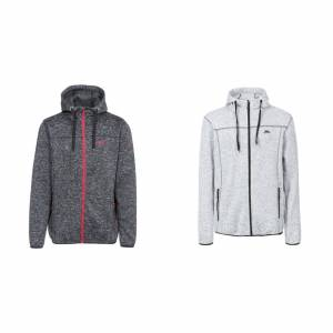 Trespass Overtredelse Mens Odeno Full Zip Hettegenser Cool grå mergel XXS