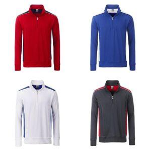 James Nicholson James og Nicholson Unisex Workwear halv-Zip svette nivå 2 Brown/stein XXL