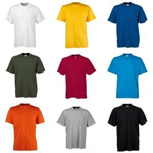 Tee Jays menns kort ermet T-skjorte Hvit 5XL