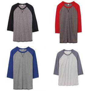 Alternative Apparel Alternative klær Mens Dugout Vintage 50/50 t-skjorte Vintage kull/rød XL