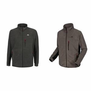 Trespass Overtredelse Mens Jynx Full Zip fleecejakke Oliven stripe S