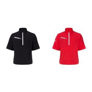 Callaway Mens vindkast 2.0 kort erme Zip hals t-skjorte (vann & vind motstandsdyktig) Kaviar S