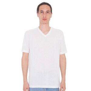 American Apparel Unisex sublimering V hals t-skjorte Hvit S