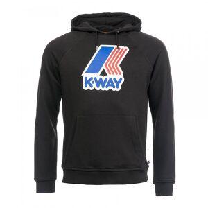 K-Way K-veis K-veis Sean FT makro Logo Hettegenser Svart Xl
