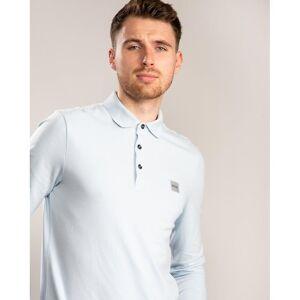 Boss Hugo Boss BOSS Boss Slim-Fit Forbipasserende Langermet Polo Skjorte Lys Pastell Blå 450 Xl