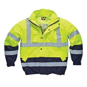 Dickies Mens høy Vis tofarget vanntett Pilot jakke Gul/Navy XL