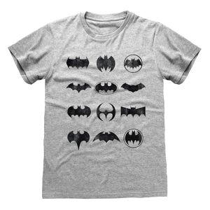 Batman Unisex Voksen Ikoner T-skjorte Lyng grå S