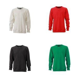 James Nicholson James og Nicholson Mens grunnleggende Sweatshirt Grå blanding/svart Melange S