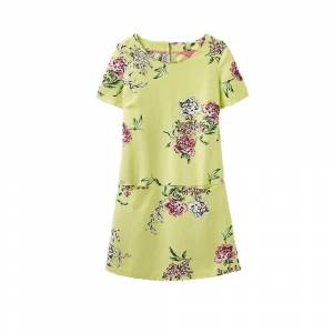 Joules Joule Ianthe vevde tunika kjole (U) Lime blomster Uk8 Eu36 Us4